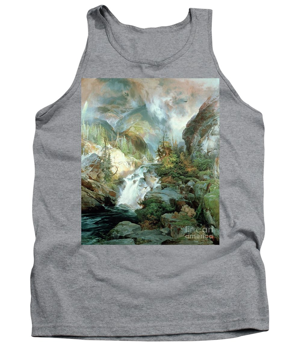 Children Of The Mountain Tank Top featuring the painting Children Of The Mountain by Thomas Moran