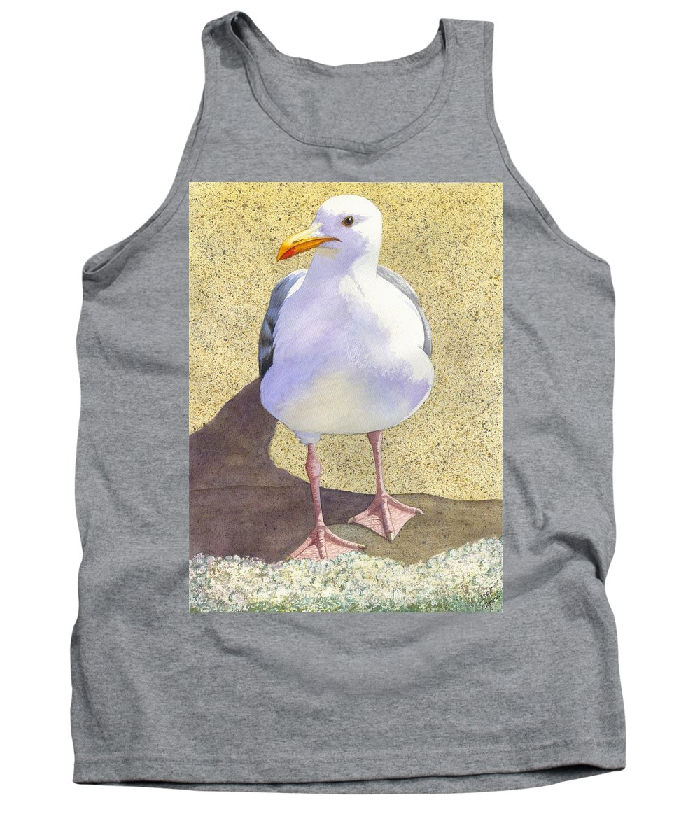 Seagull Tank Top featuring the painting Chilly by Catherine G McElroy