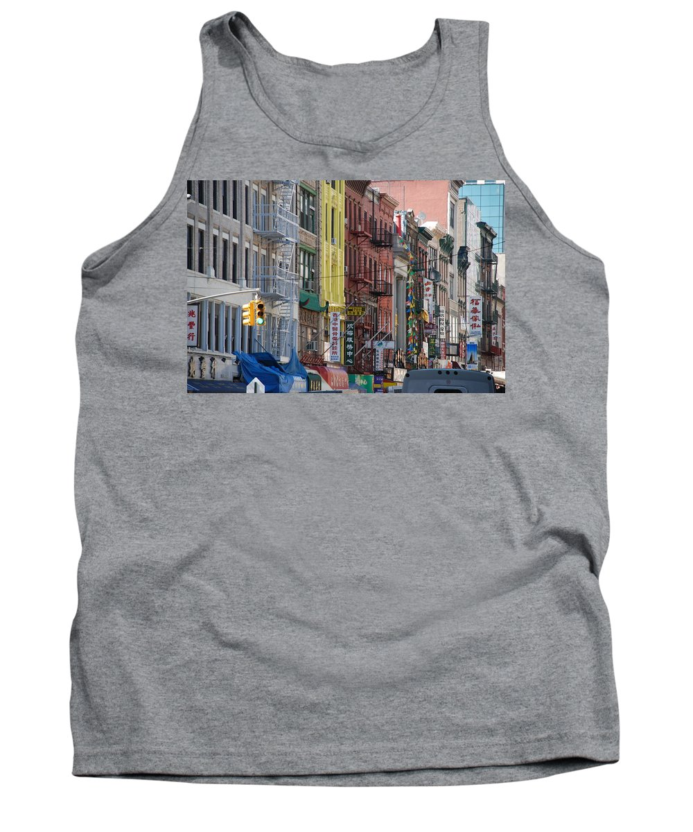 Architecture Tank Top featuring the photograph Chinatown Walk Ups by Rob Hans