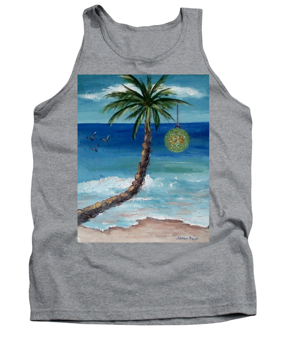 Christmas Tank Top featuring the painting Christmas 2008 by Jamie Frier