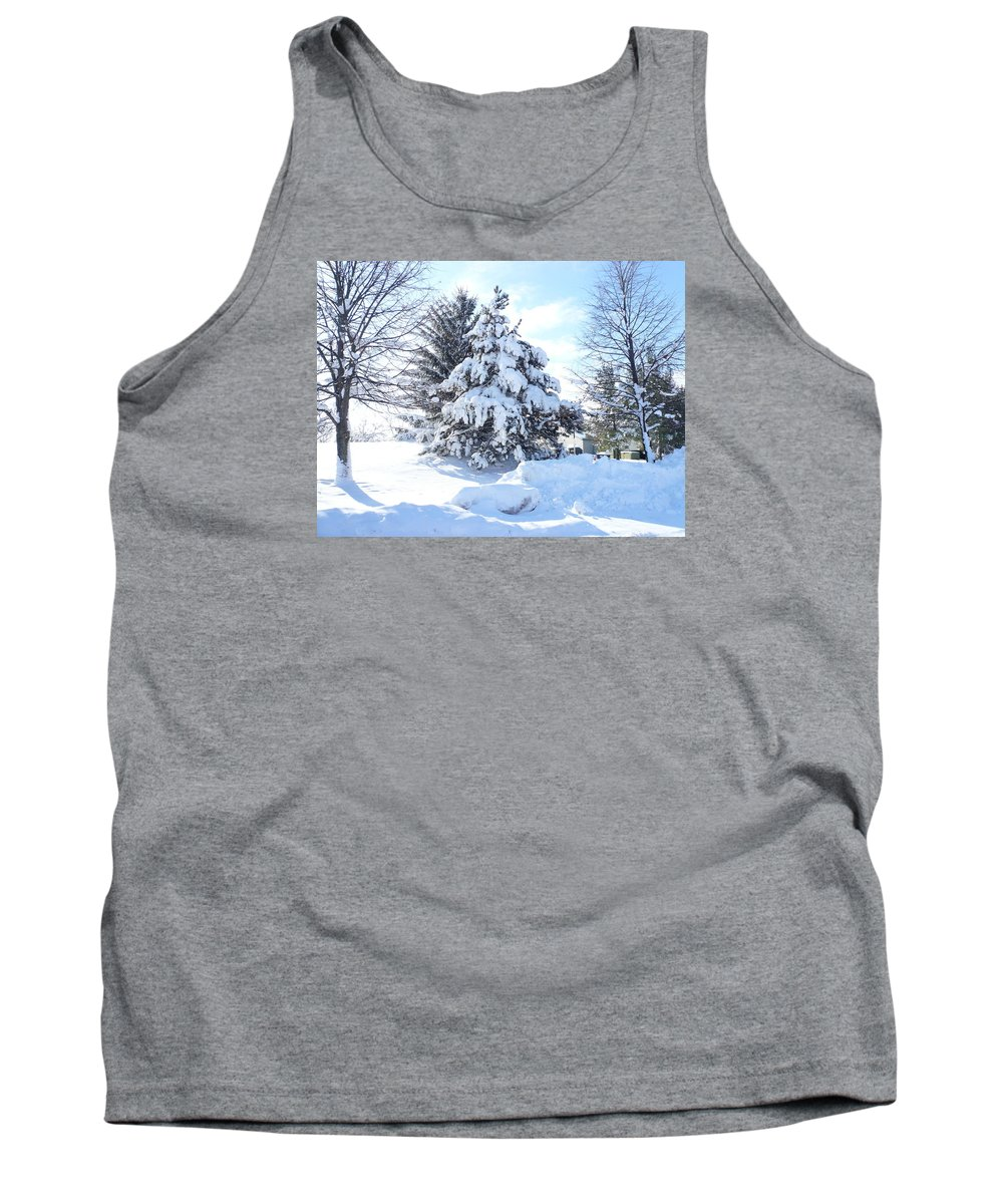 Tree Tank Top featuring the photograph Christmas Tree by Connie Young