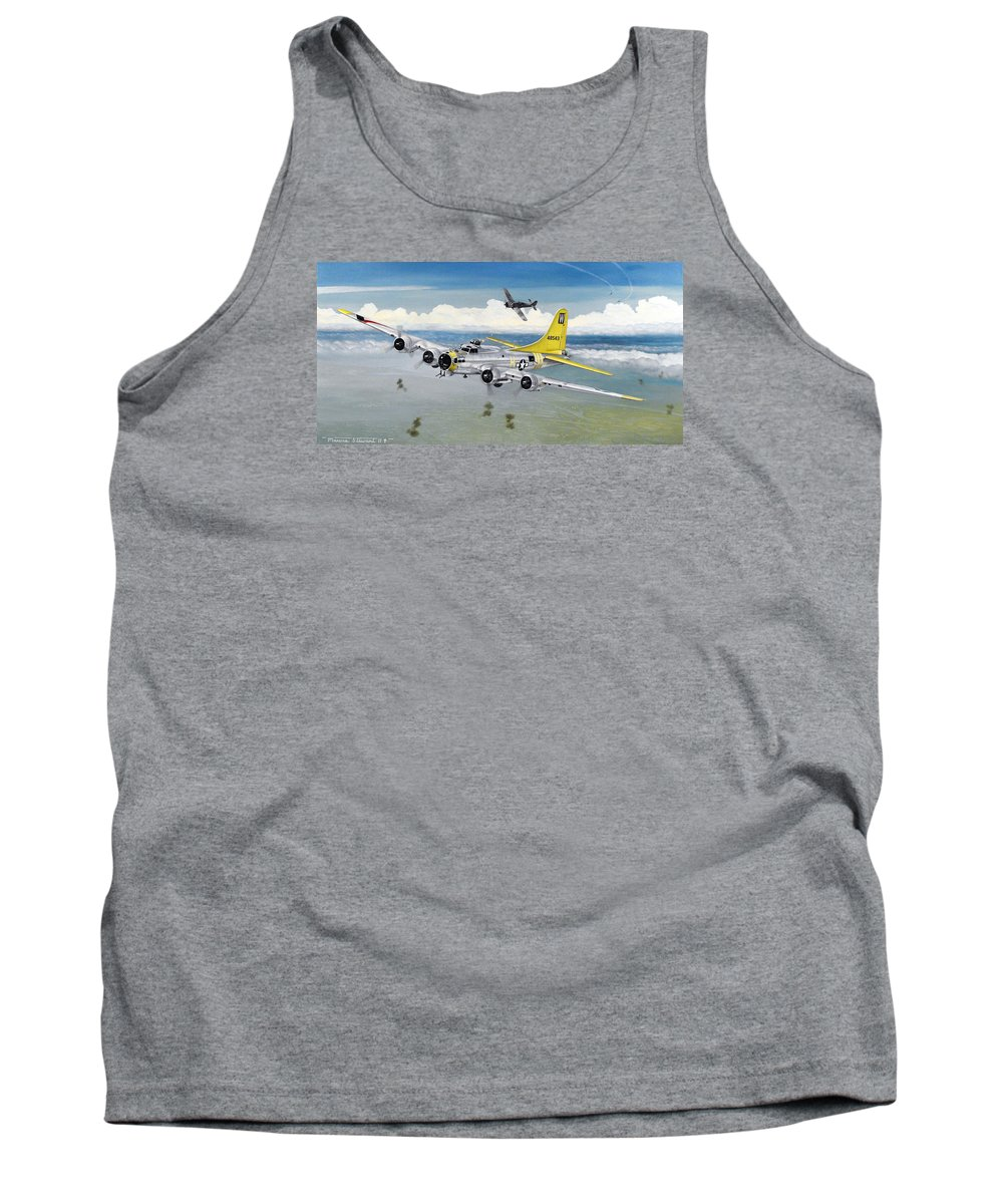 B-17 Tank Top featuring the painting Chuckie by Marc Stewart