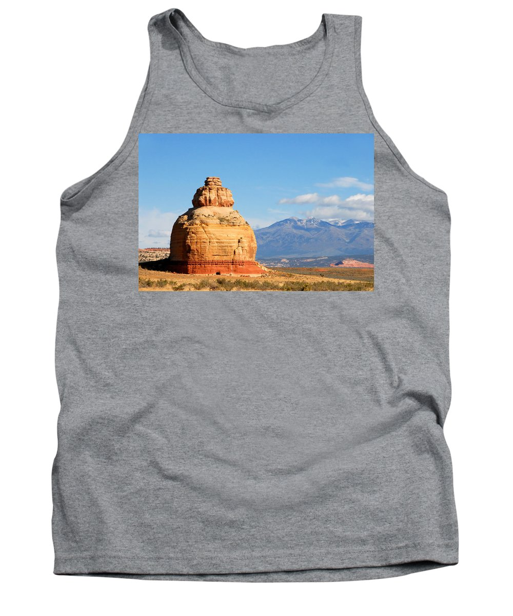 Church Rock Utah Tank Top featuring the photograph Church Rock Utah by David Lee Thompson