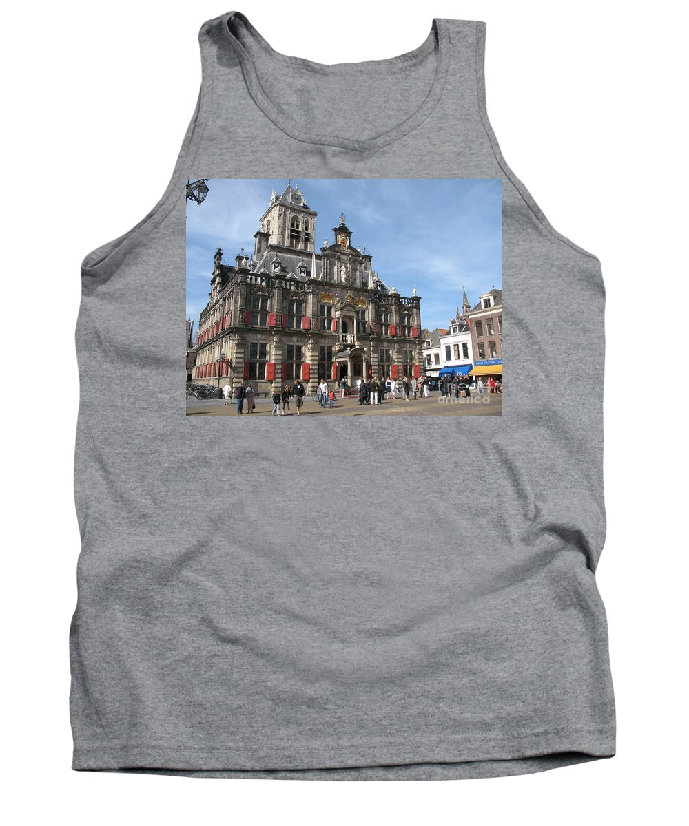 City Hall Tank Top featuring the photograph City Hall - Delft - Netherlands by Christiane Schulze Art And Photography
