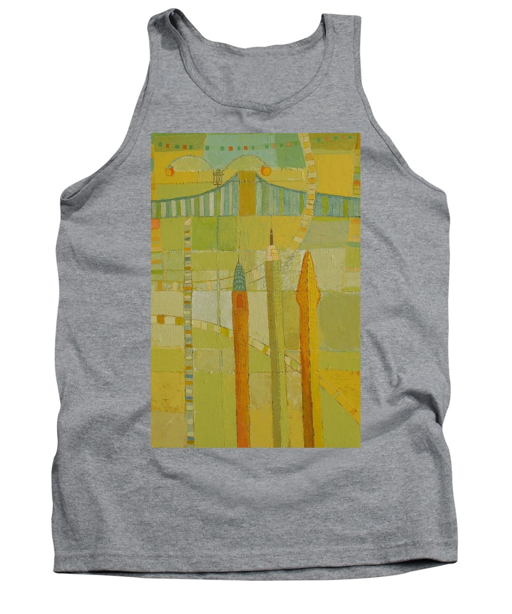 Nyc Tank Top featuring the painting City Icons by Habib Ayat
