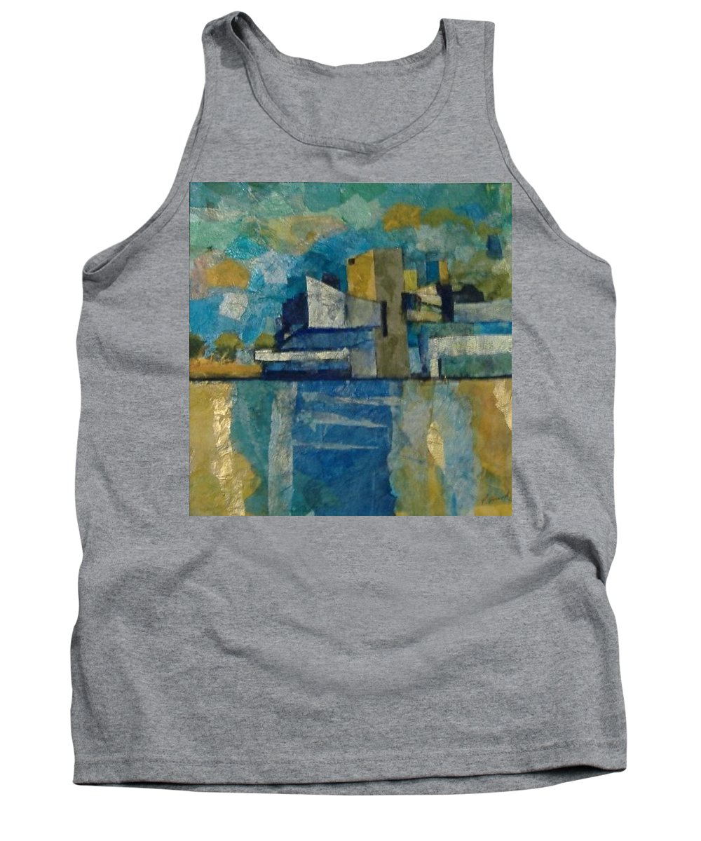 Tank Top featuring the mixed media City In Harmony by Pat Snook