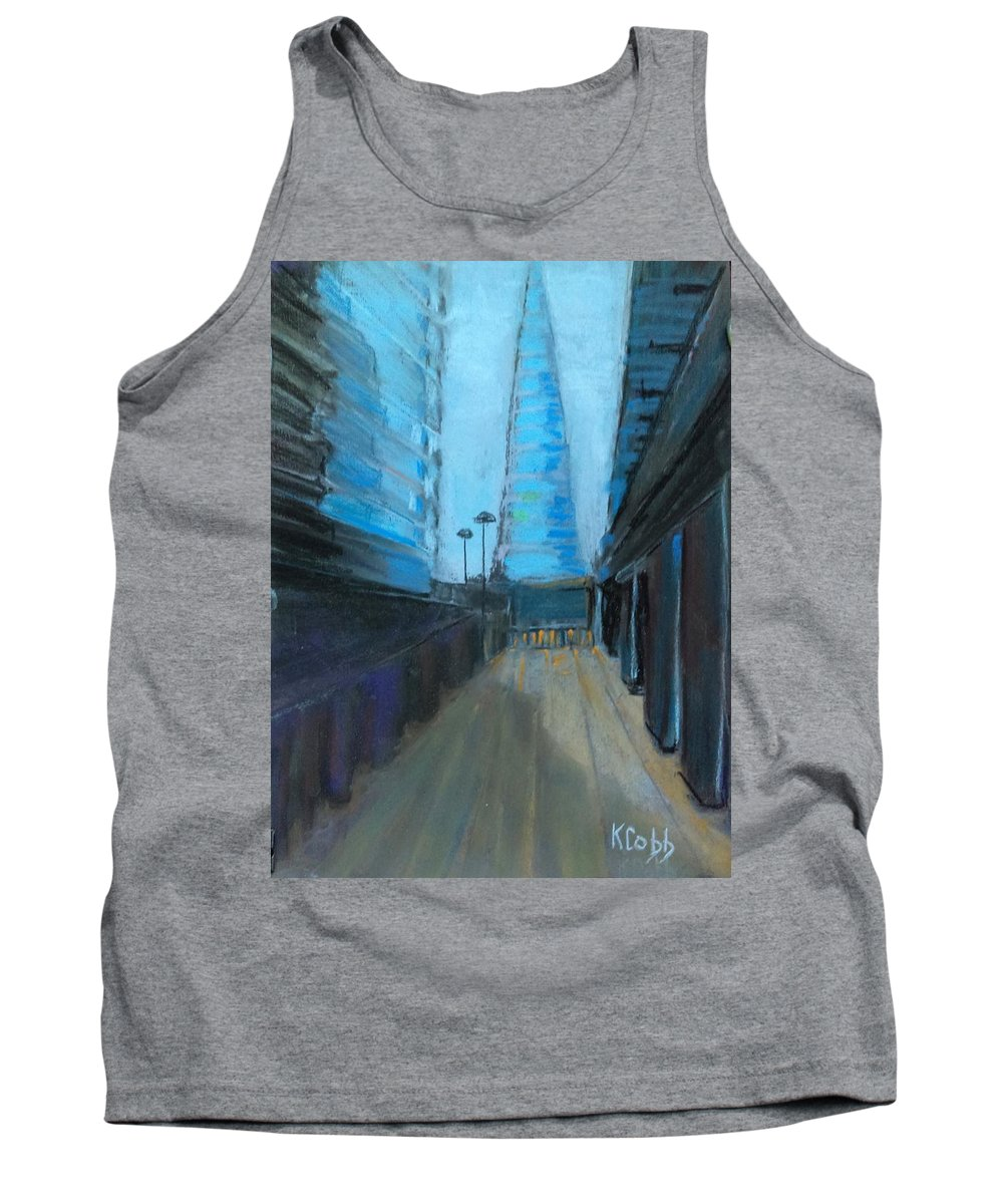 Art Tank Top featuring the pastel City Of London Street by Katherine Cobb