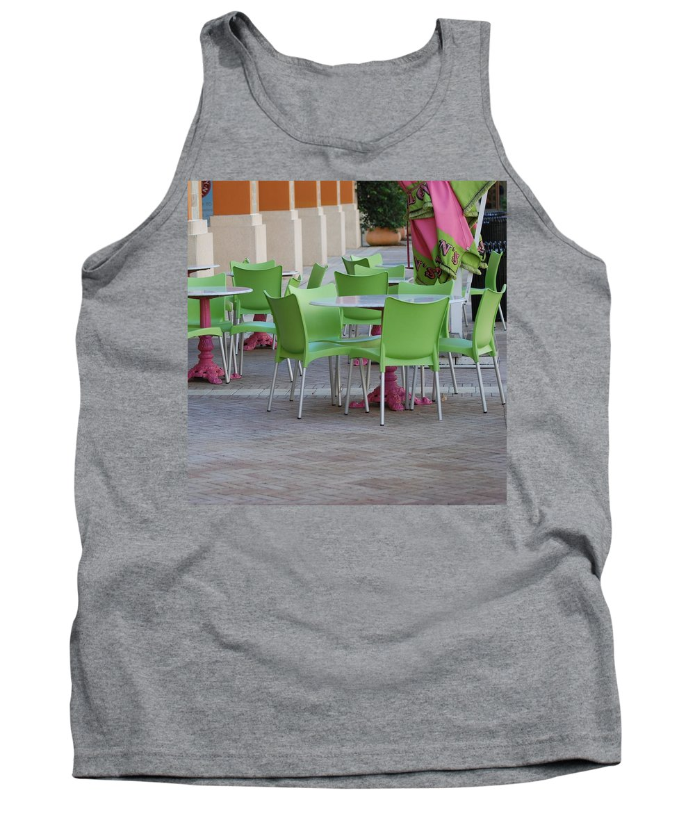 Chairs Tank Top featuring the photograph City Place Seats by Rob Hans
