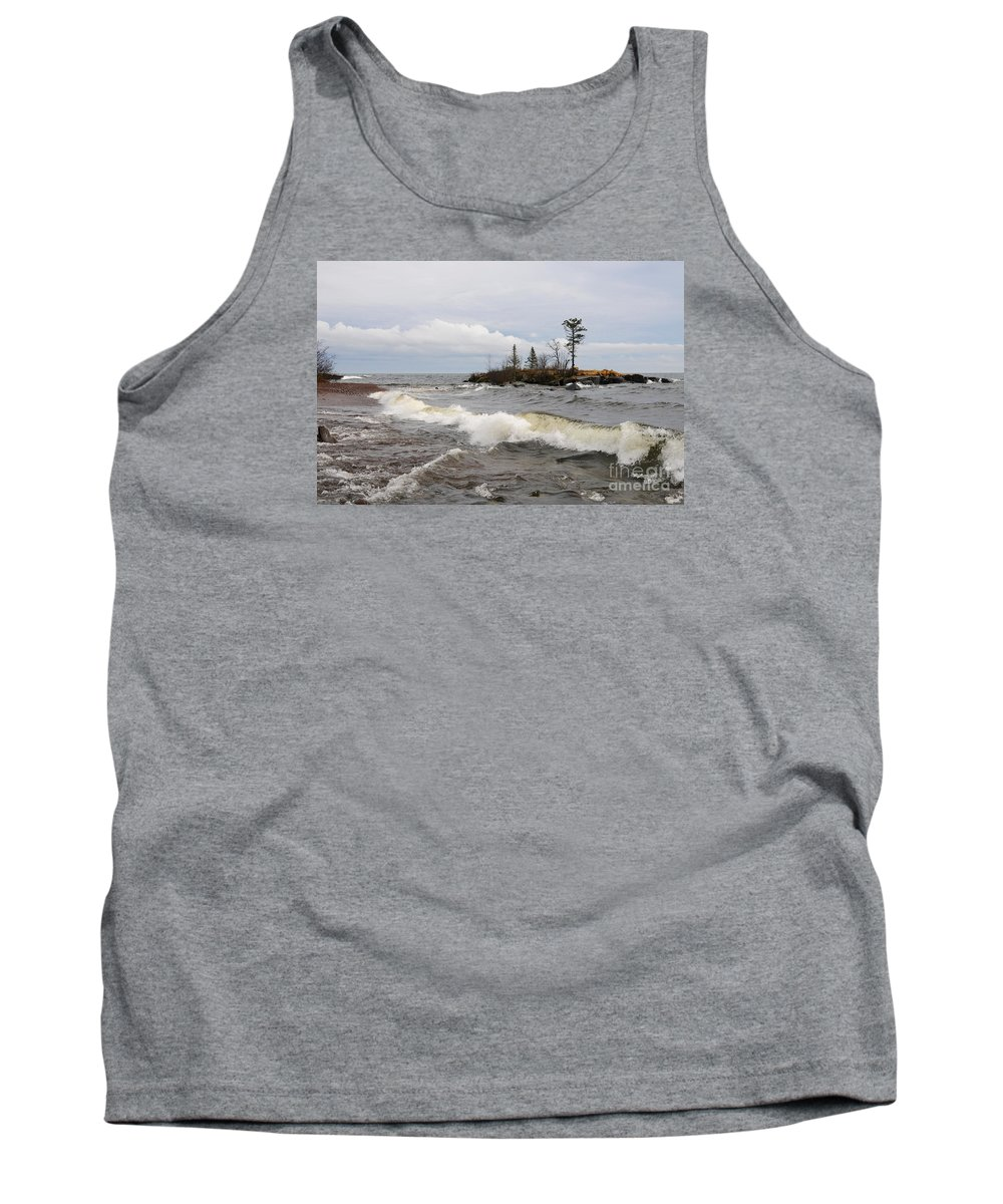 Lake Superior Tank Top featuring the photograph Clearing Storm Over Lake Superior by Sandra Updyke