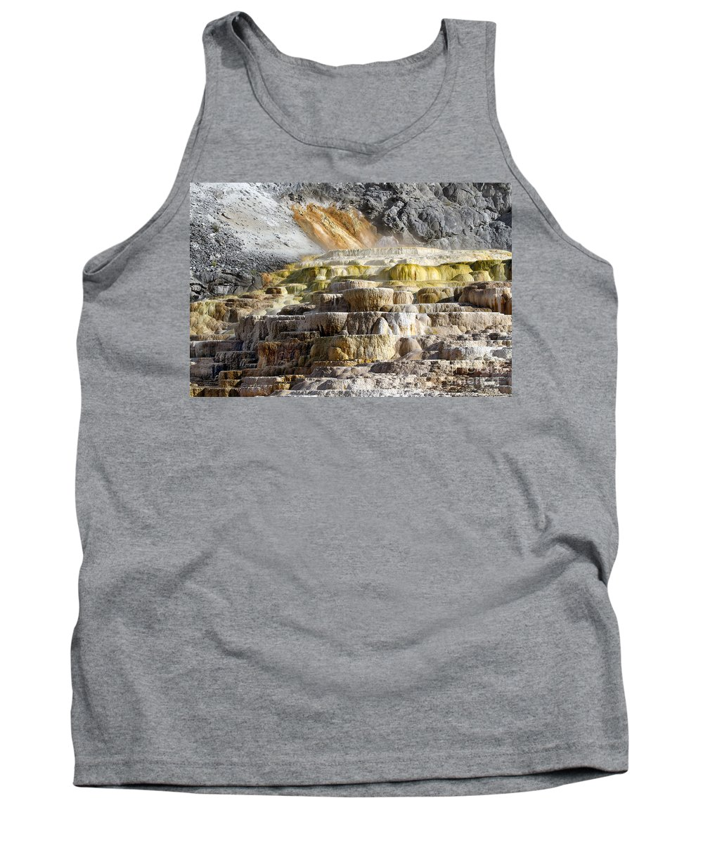 Cleopatra Terrace Tank Top featuring the photograph Cleopatra Terrace In Yellowstone National Park by Catherine Sherman
