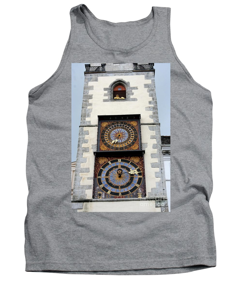 Clock Tank Top featuring the photograph Clock Tower by Christiane Schulze Art And Photography