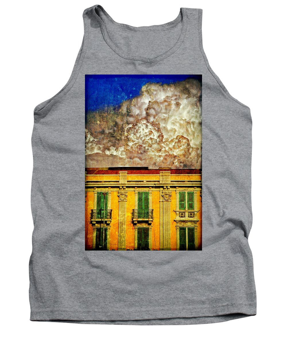 Building Tank Top featuring the photograph Cloud Like Whipped Cream by Silvia Ganora