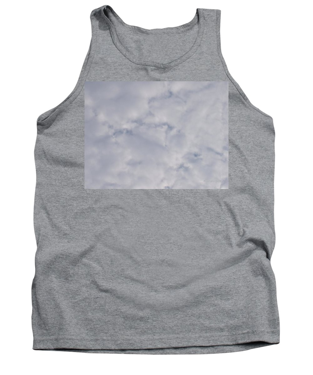 Clouds Tank Top featuring the photograph Cloud Mass - Fist Holding Arrowhead - Look Closely by Deborah Crew-Johnson