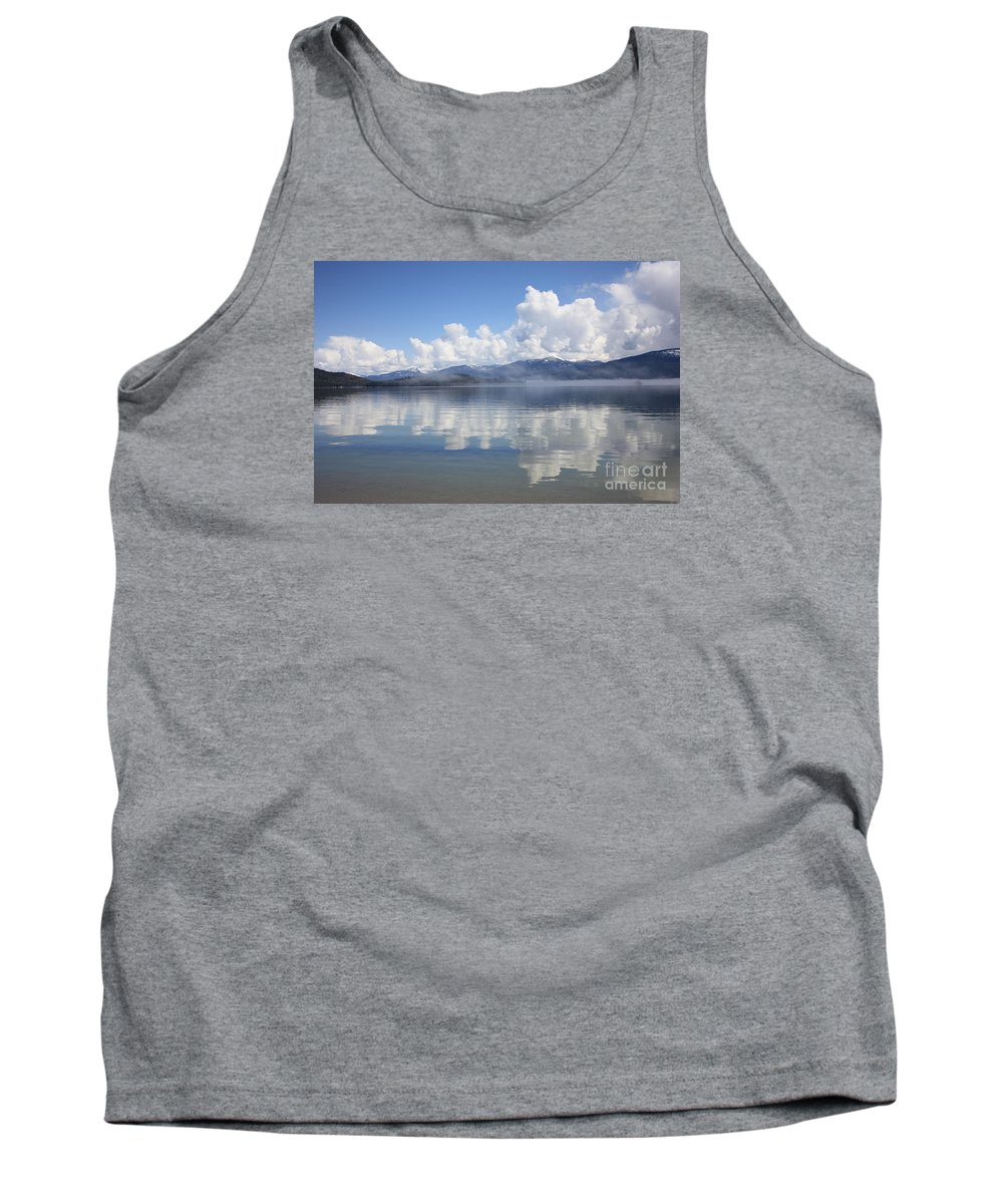 Clouds Tank Top featuring the photograph Cloud Reflection On Priest Lake by Carol Groenen