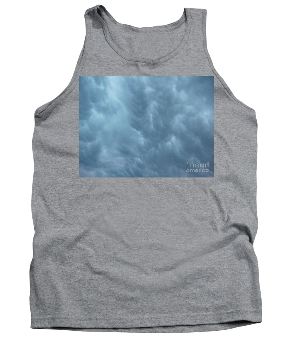 Clouds Tank Top featuring the photograph Clouds Like The Sea by Deborah Crew-Johnson