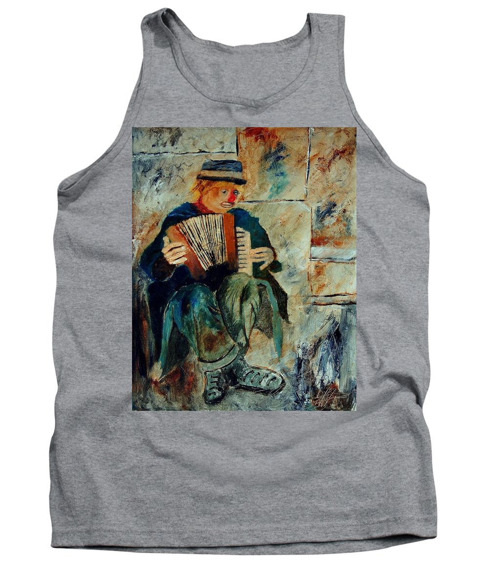 Music Tank Top featuring the painting Clown by Pol Ledent