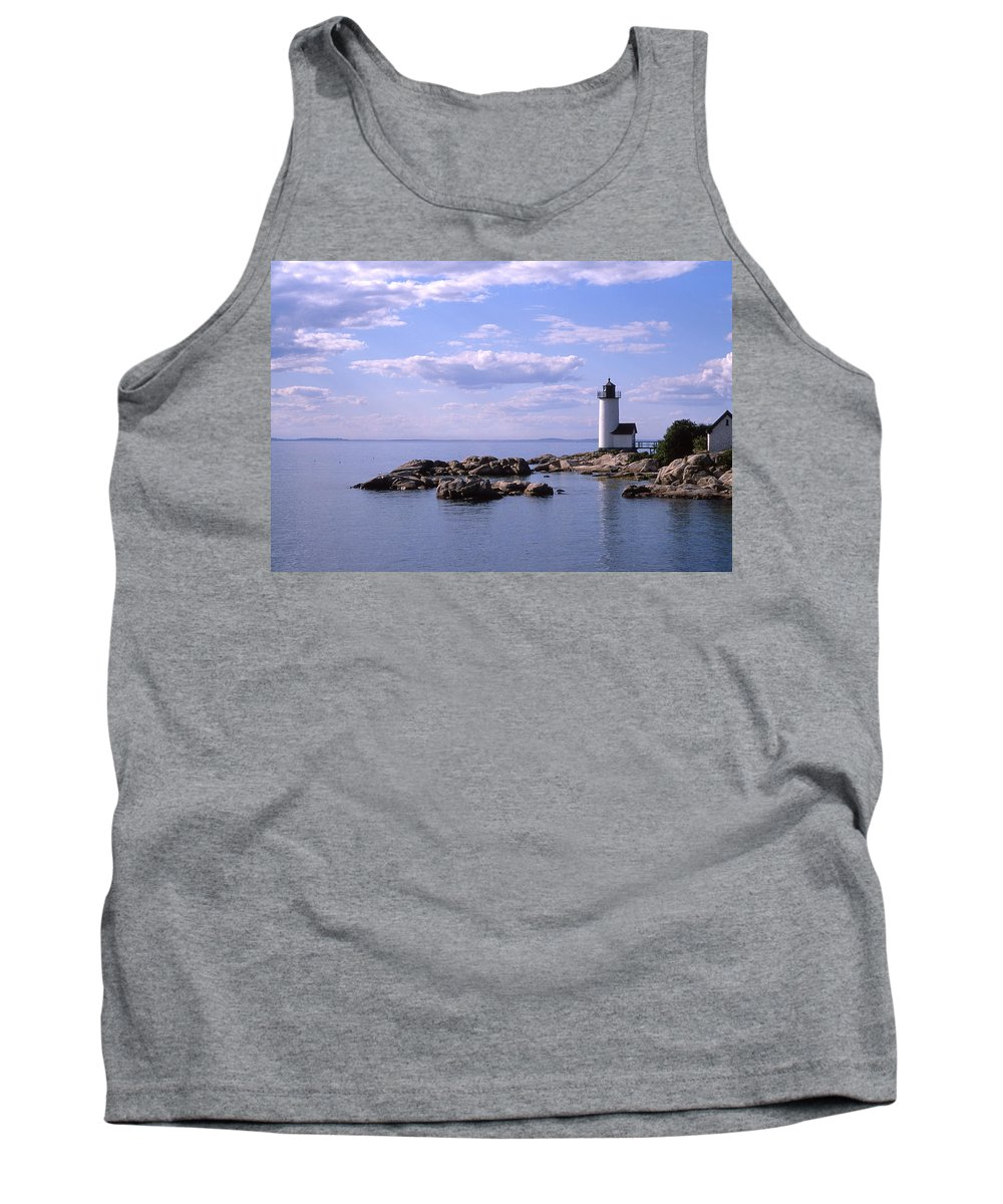 Landscape Lighthouse New England Nautical Tank Top featuring the photograph Cnrf0901 by Henry Butz
