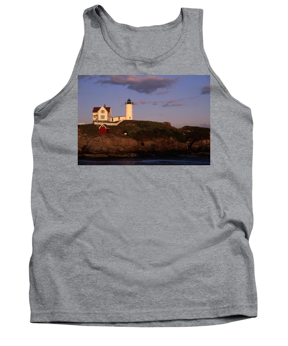 Landscape New England Lighthouse Nautical Coast Tank Top featuring the photograph Cnrf0908 by Henry Butz