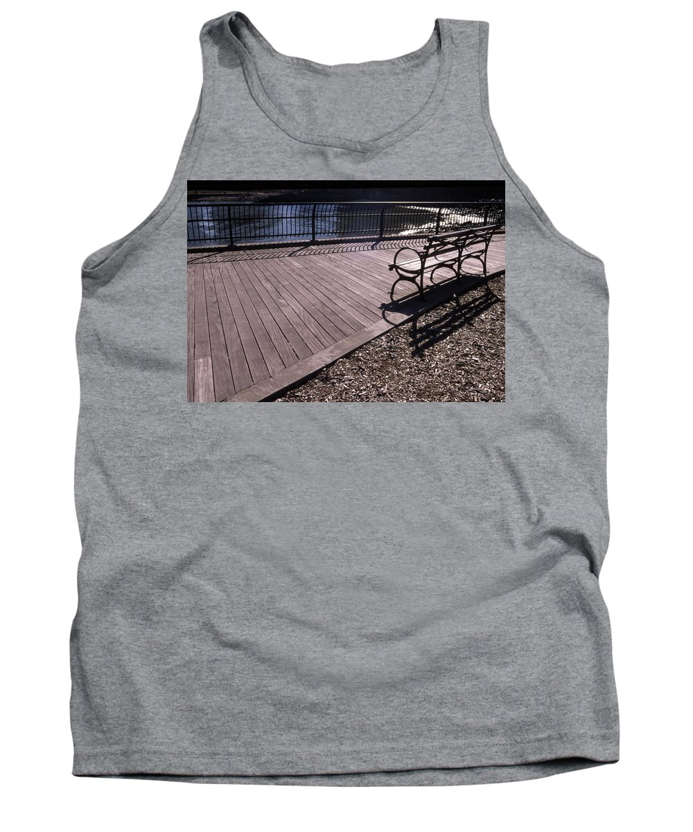 Manhattan Brooklyn Bridge Park Bench Tank Top featuring the photograph Cnrg0404 by Henry Butz