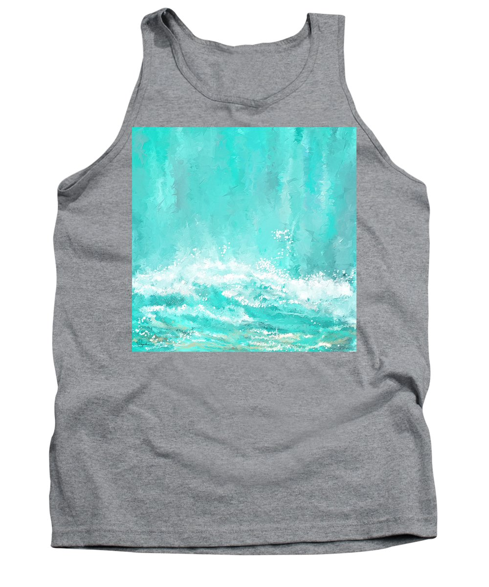 Seascapes Abstract Tank Top featuring the painting Coastal Inspired Art by Lourry Legarde