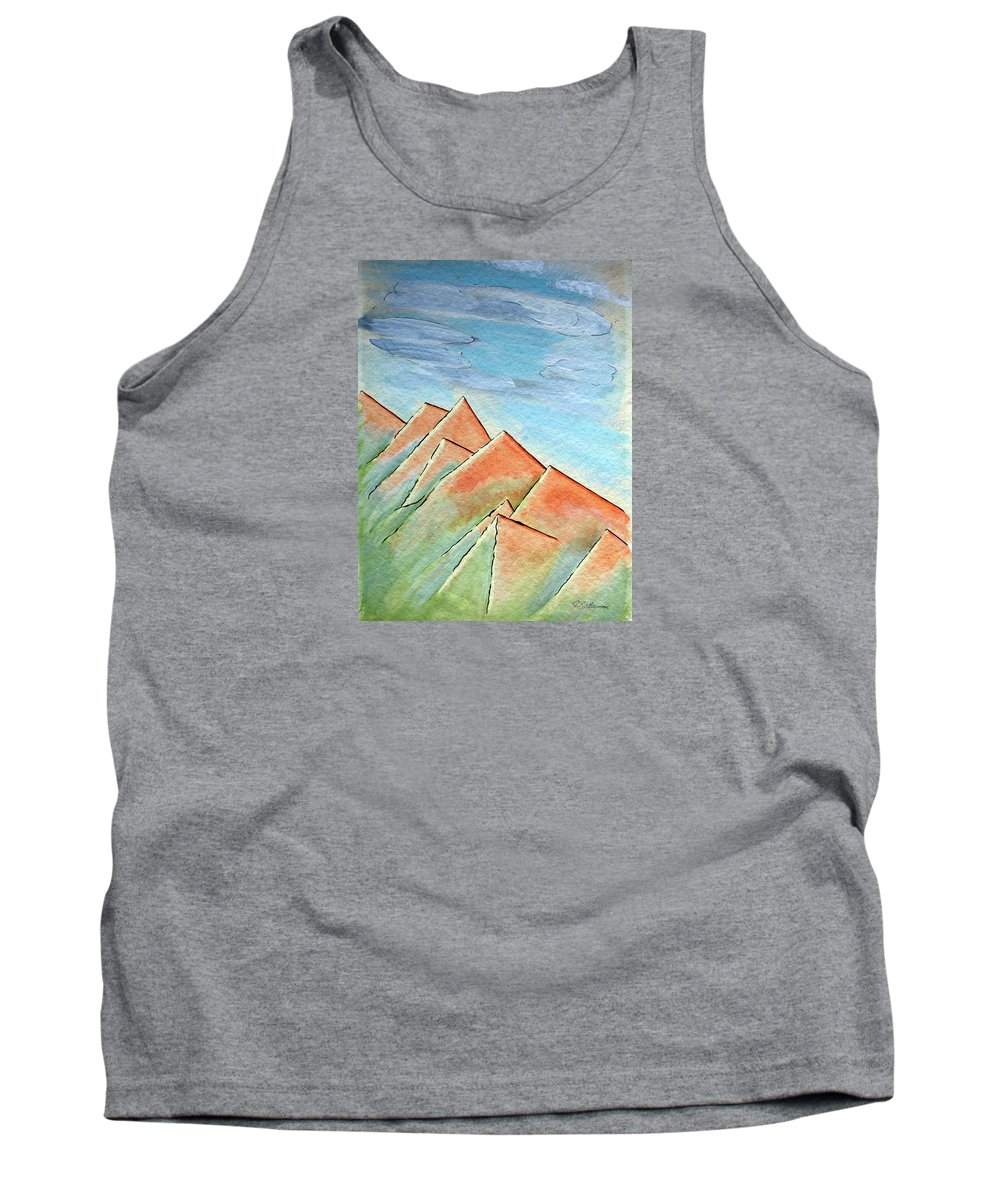 Painting Tank Top featuring the painting Coastal Range by J R Seymour