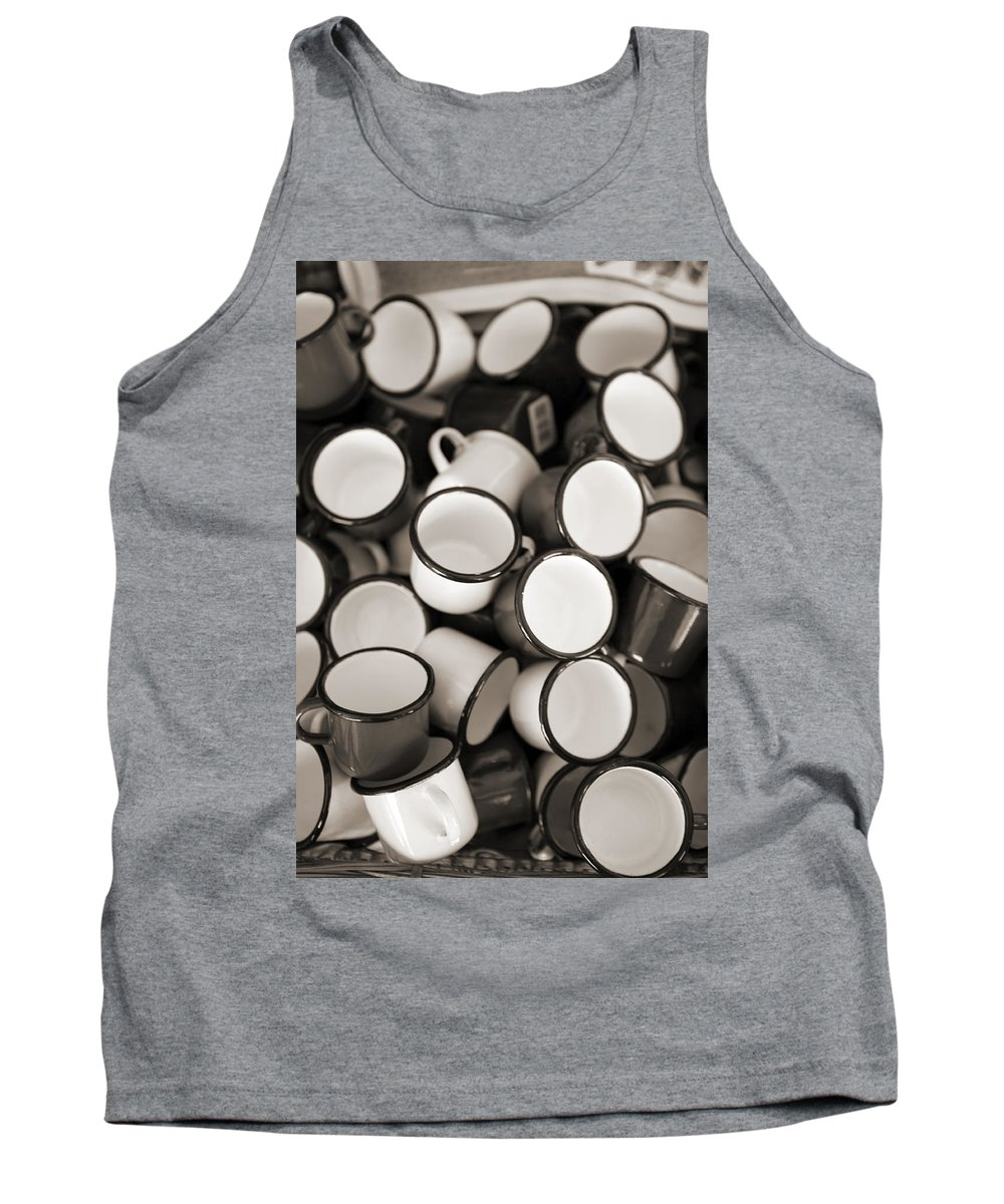 Coffee Tank Top featuring the photograph Coffe Cups 2 by Marilyn Hunt