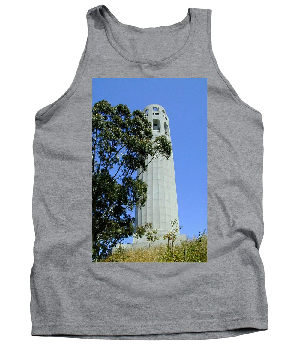 Coit Tank Top featuring the photograph Coit Tower by Douglas Barnett