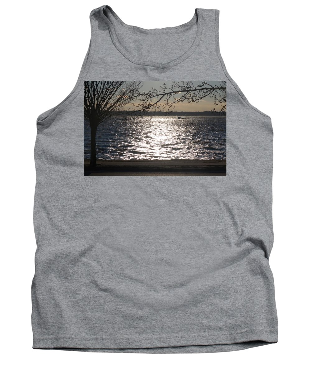 Frigid Tank Top featuring the photograph Cold, Bright, And Windy- Before The Freeze by Rauno Joks