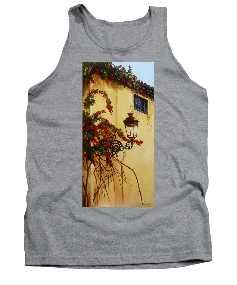 Cuban Painter Tank Top featuring the painting Colonial Corner by Dominica Alcantara