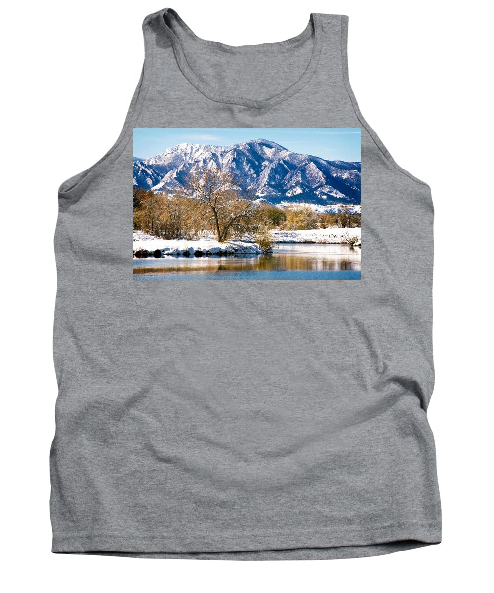 Colorado Tank Top featuring the photograph Colorado Flatirons 2 by Marilyn Hunt