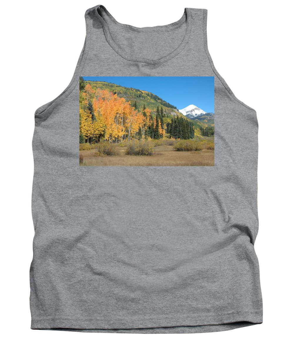 Aspen Tank Top featuring the photograph Colorado Gold by Jerry McElroy