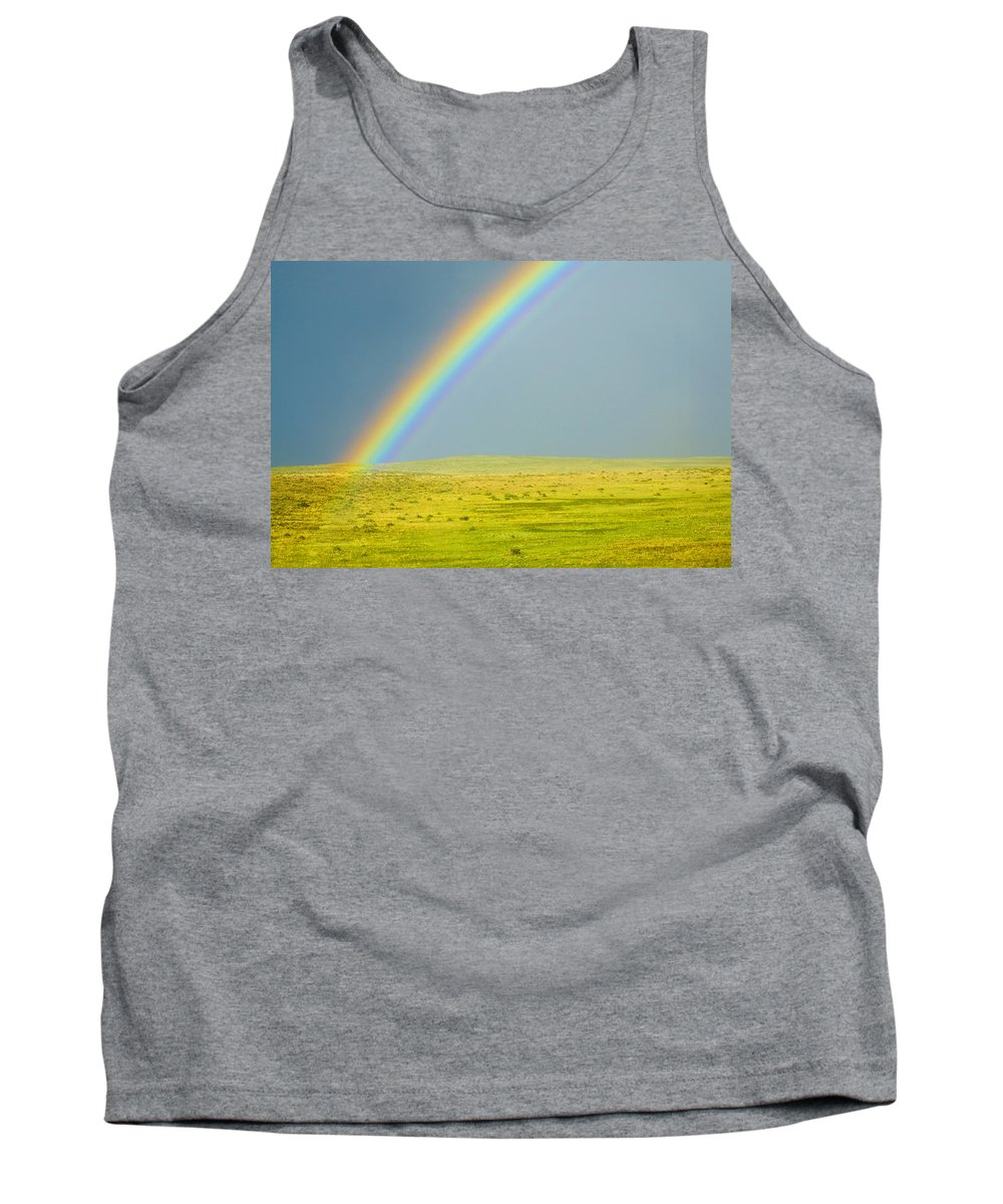 Colorado Tank Top featuring the photograph Colorado Rainbow by Marilyn Hunt