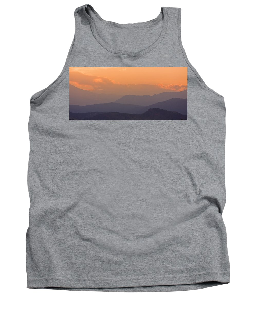 Sunset Tank Top featuring the photograph Colorado Rocky Mountain Sunset Layers by James BO Insogna
