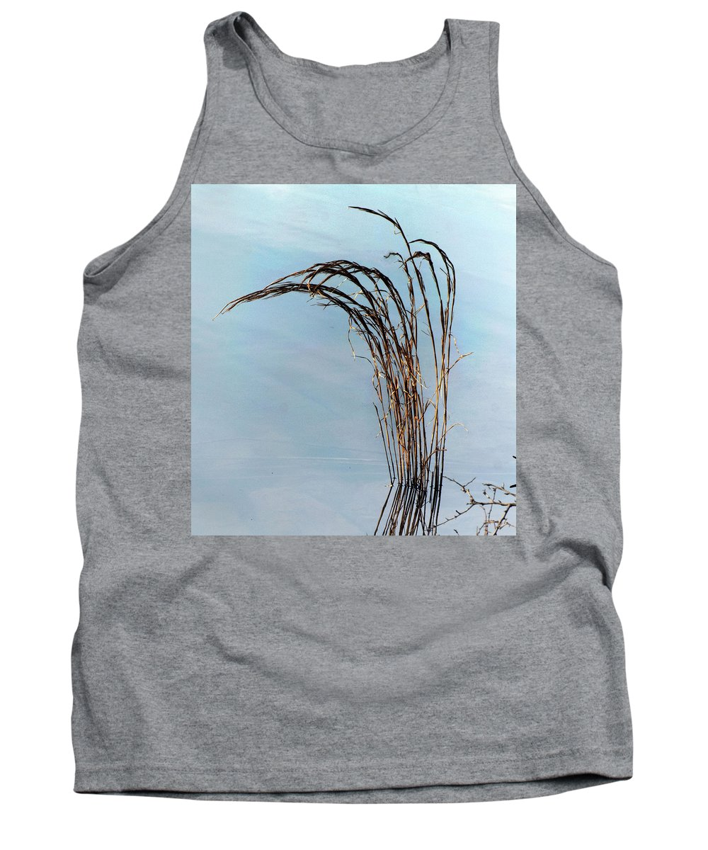 California Scenes Tank Top featuring the photograph Combie Lake Reeds by Norman Andrus