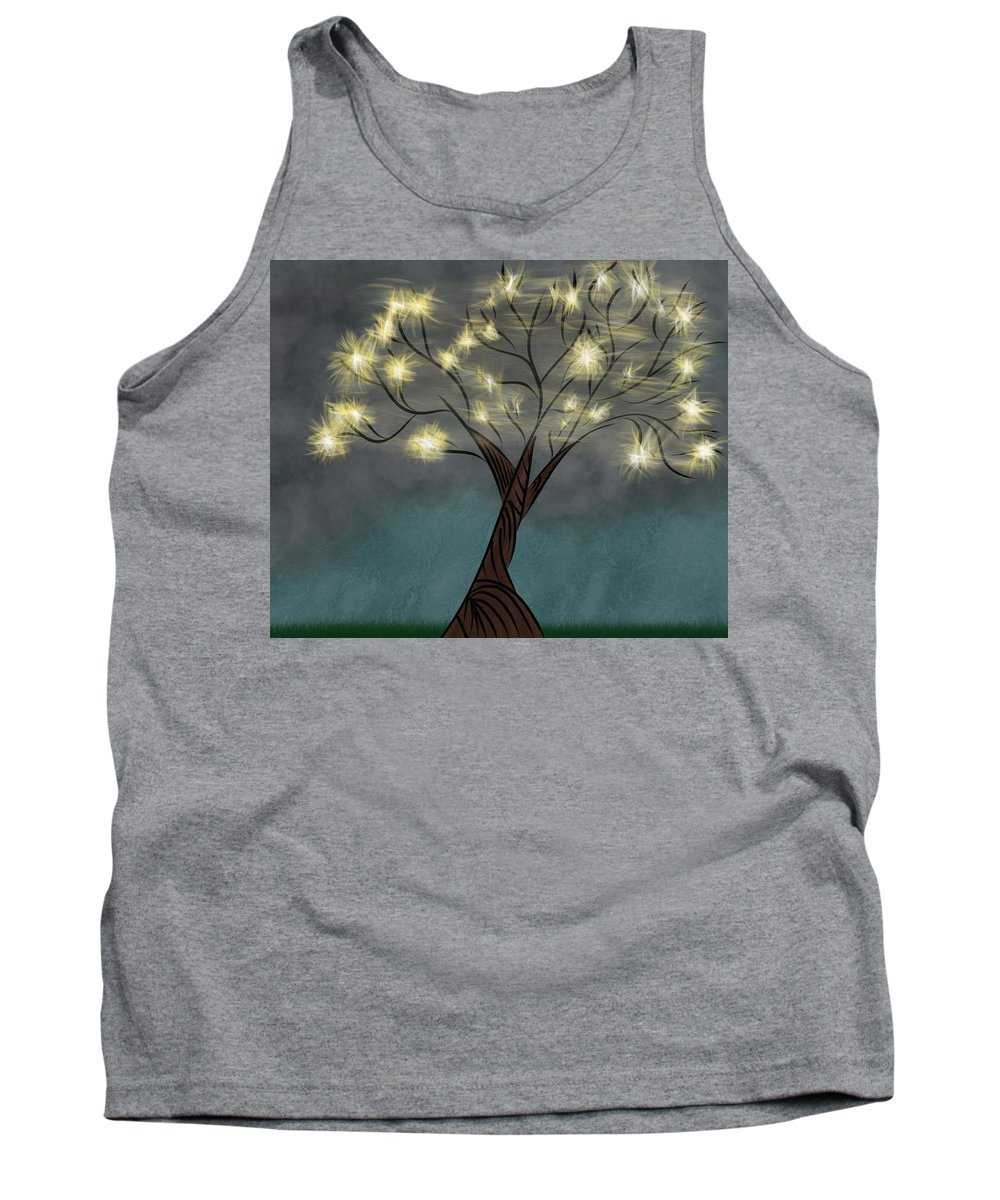 Abstract Tree Tank Top featuring the digital art Comet Tree by Morgan Payne