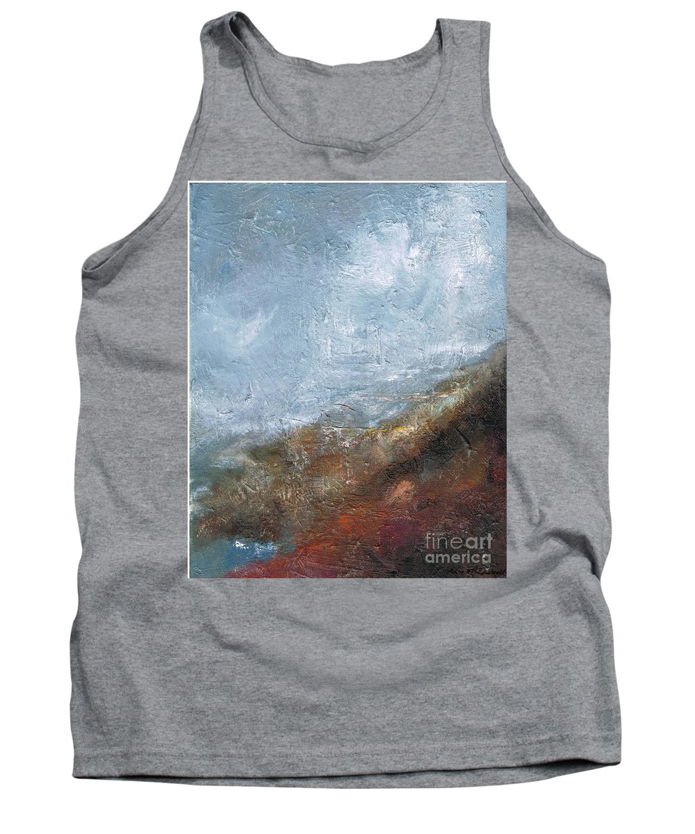 Abstract Tank Top featuring the painting Coming Out Of A Fog by Frances Marino