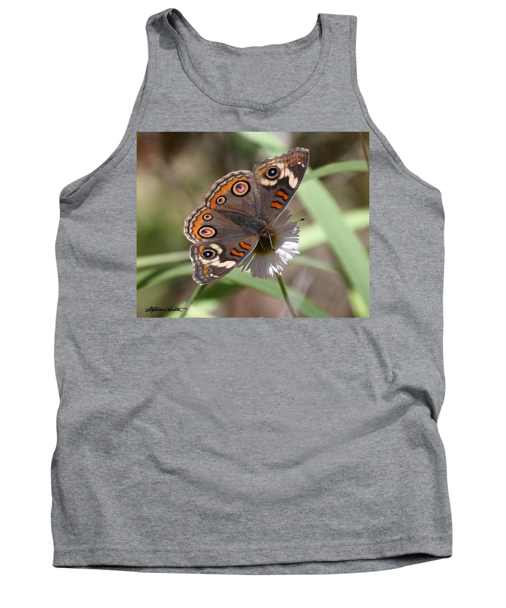 Nature Tank Top featuring the photograph Common Buckeye by Stephanie Salter