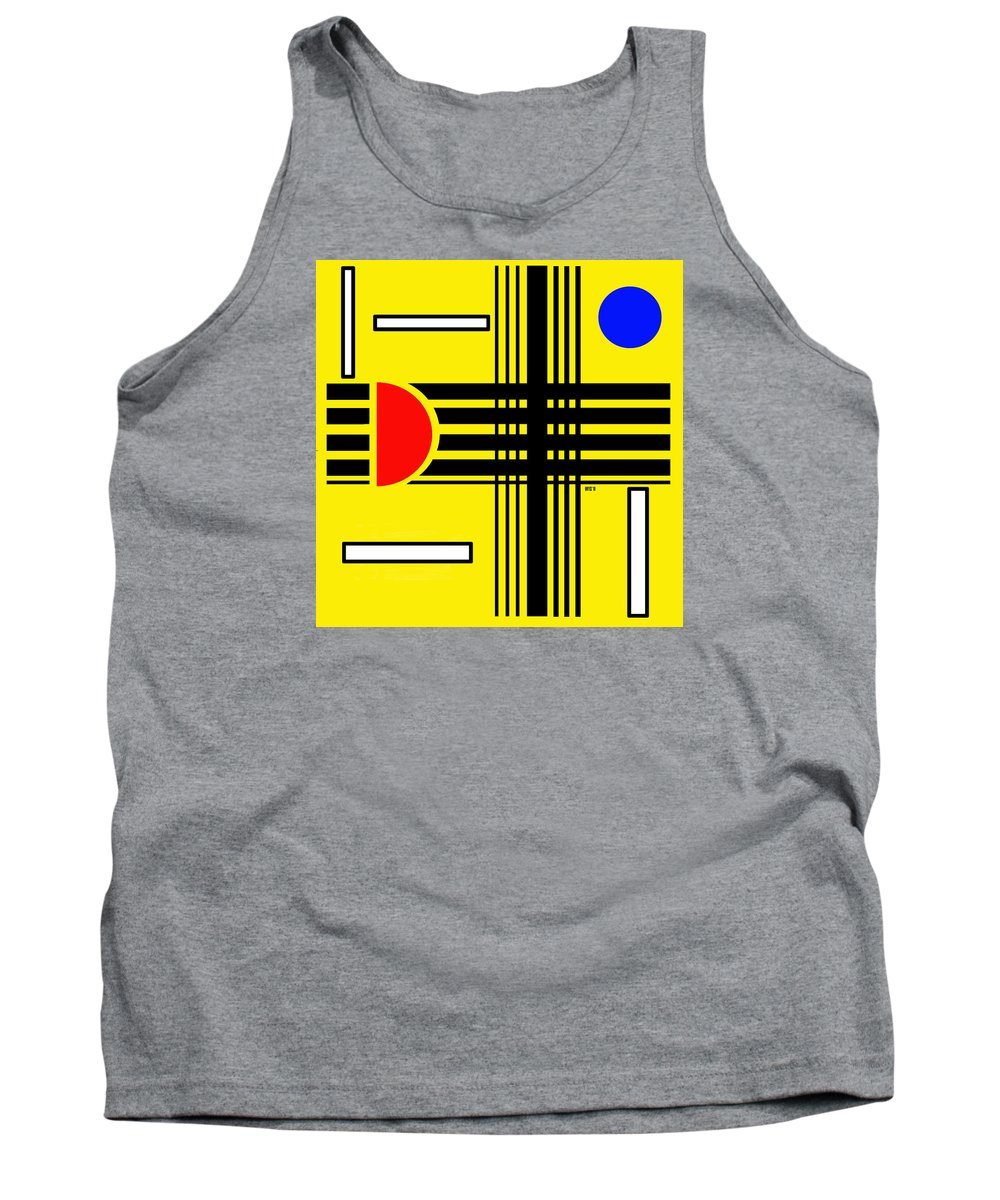 Abstract Tank Top featuring the digital art Composition 3 by Lois Boyce