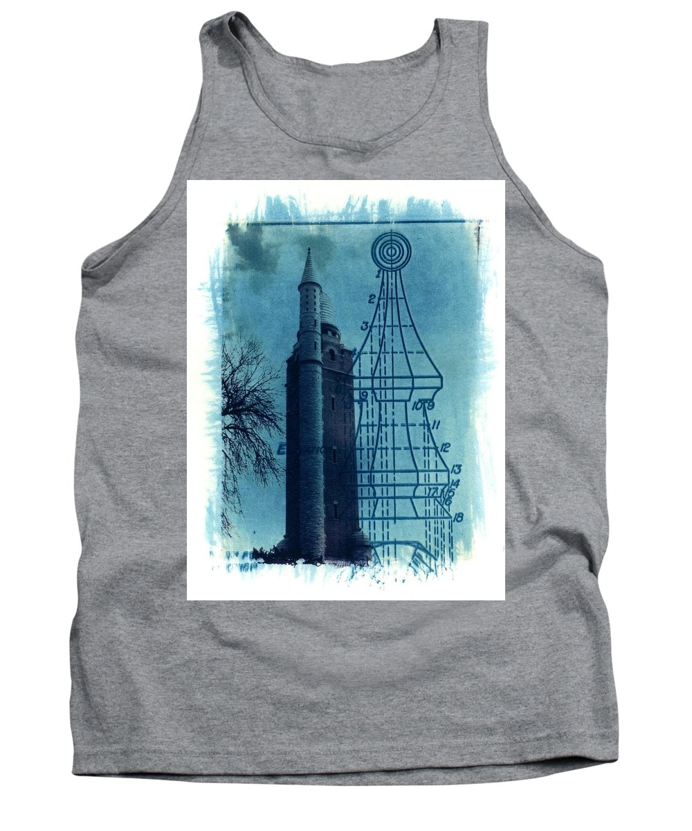 Alternative Process Photography Tank Top featuring the photograph Compton Blueprint by Jane Linders
