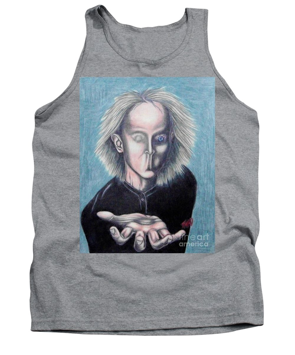 Tmad Tank Top featuring the drawing Consciousness by Michael TMAD Finney