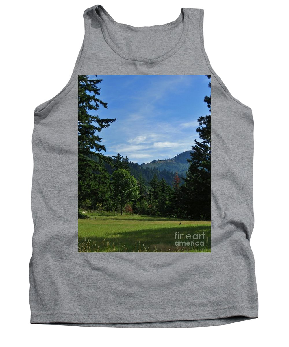 Vista Tank Top featuring the photograph View Of Underwood Mountain by Mel Manning
