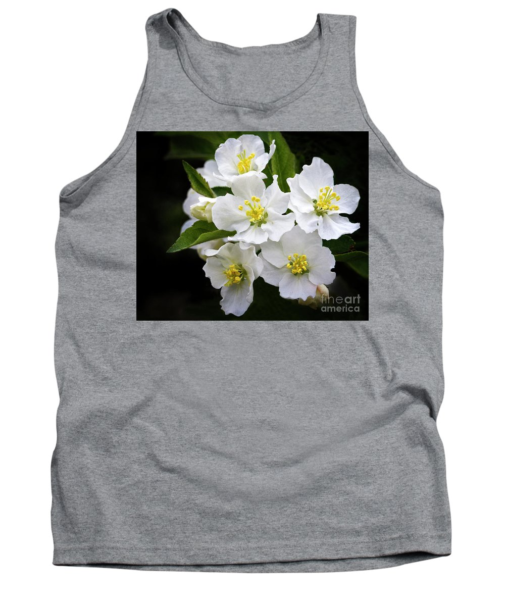 Flower Tank Top featuring the photograph Crab Apple Blossom by Emma England