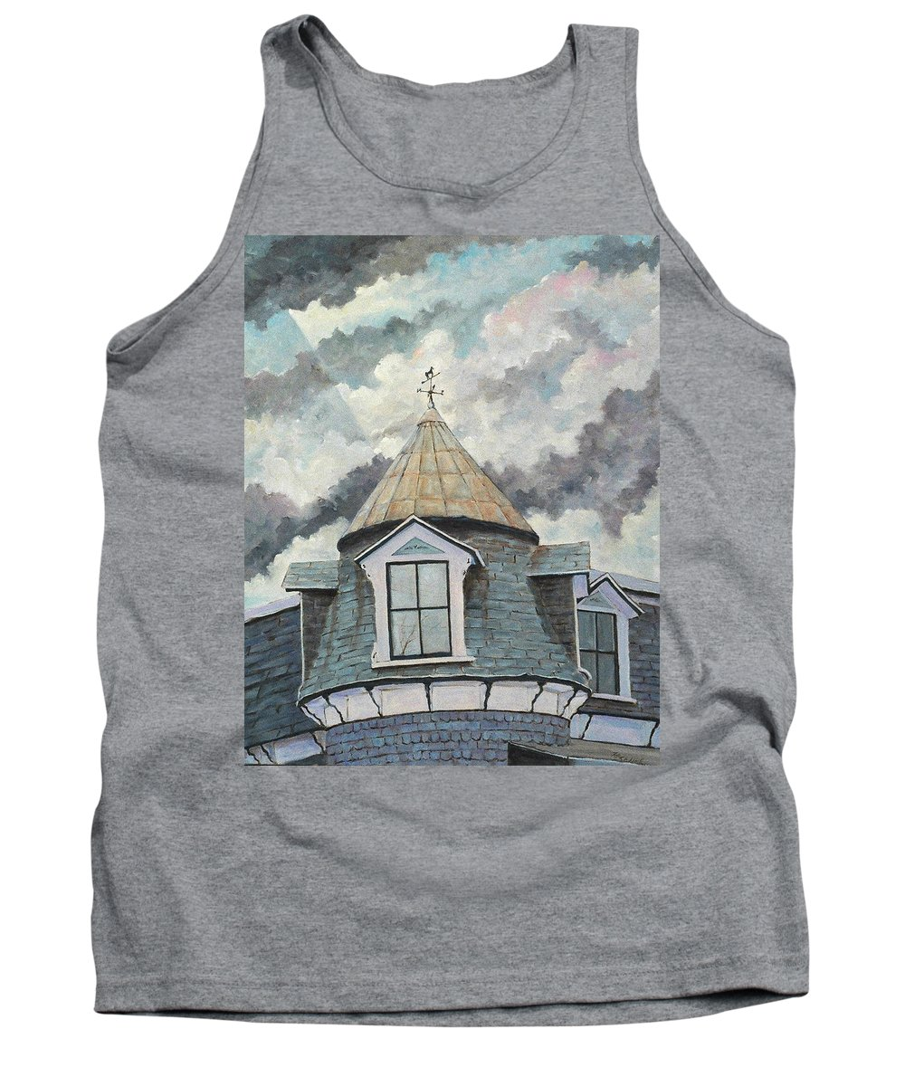 Art Tank Top featuring the painting Crack The Sky_reserve by Richard T Pranke