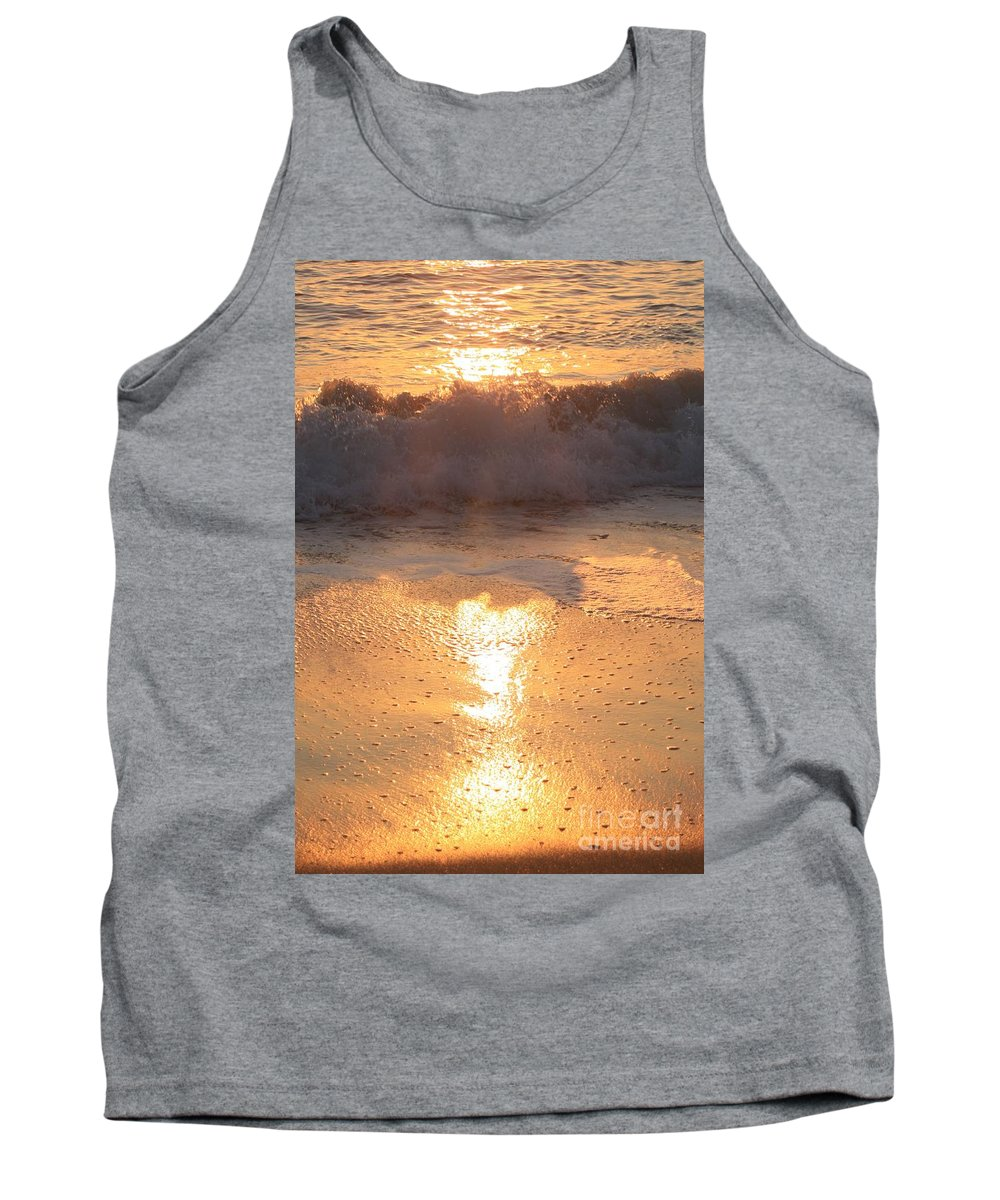 Waves Tank Top featuring the photograph Crashing Wave At Sunrise by Nadine Rippelmeyer