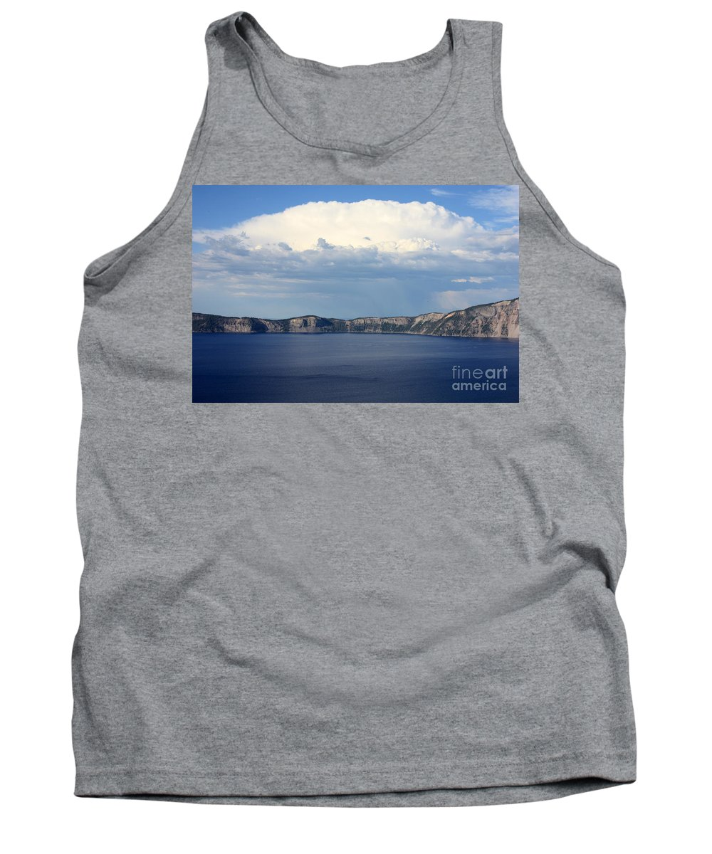 Clouds Tank Top featuring the photograph Crater Lake by Carol Groenen