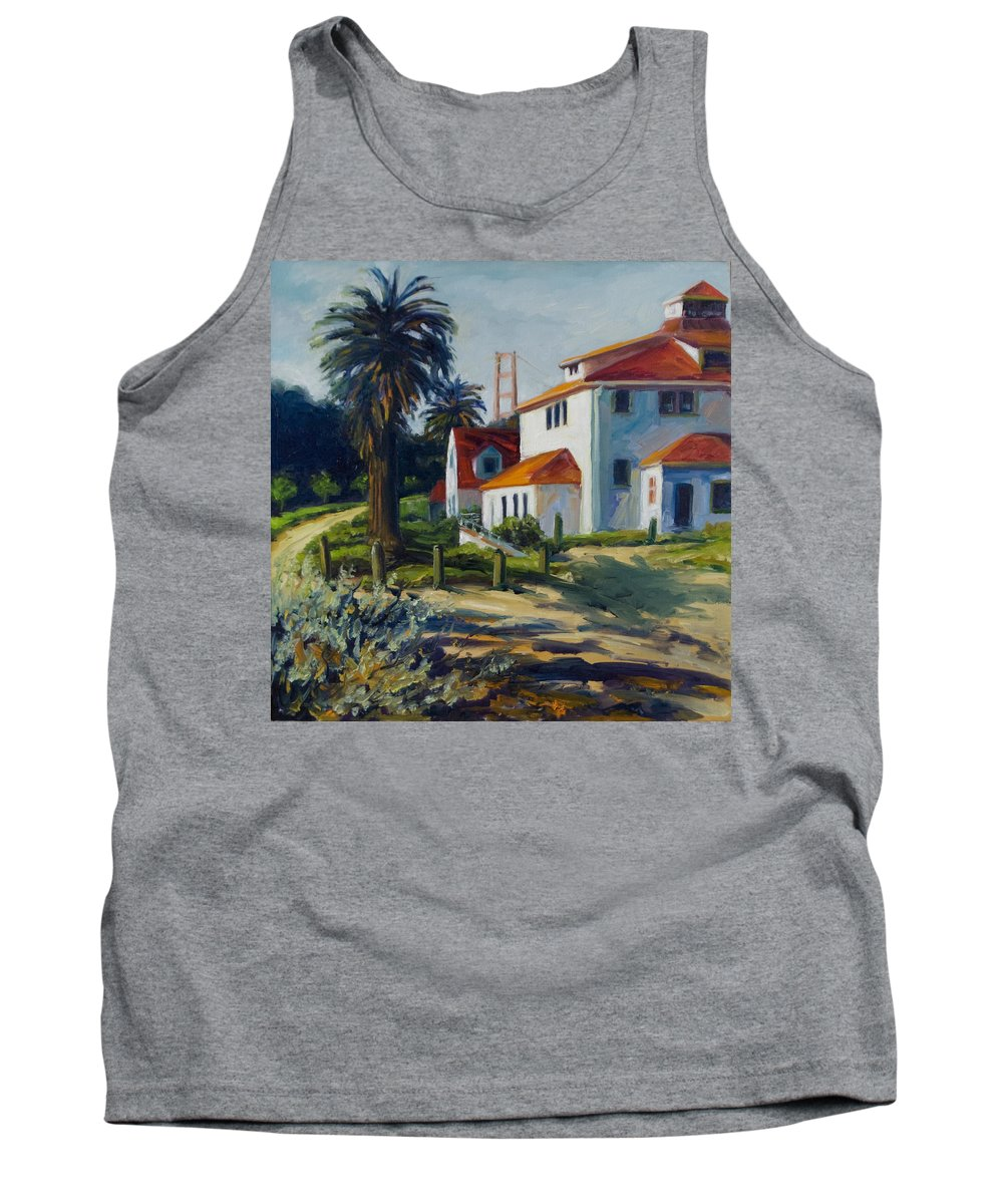 San Francisco Tank Top featuring the painting Crissy Field by Rick Nederlof