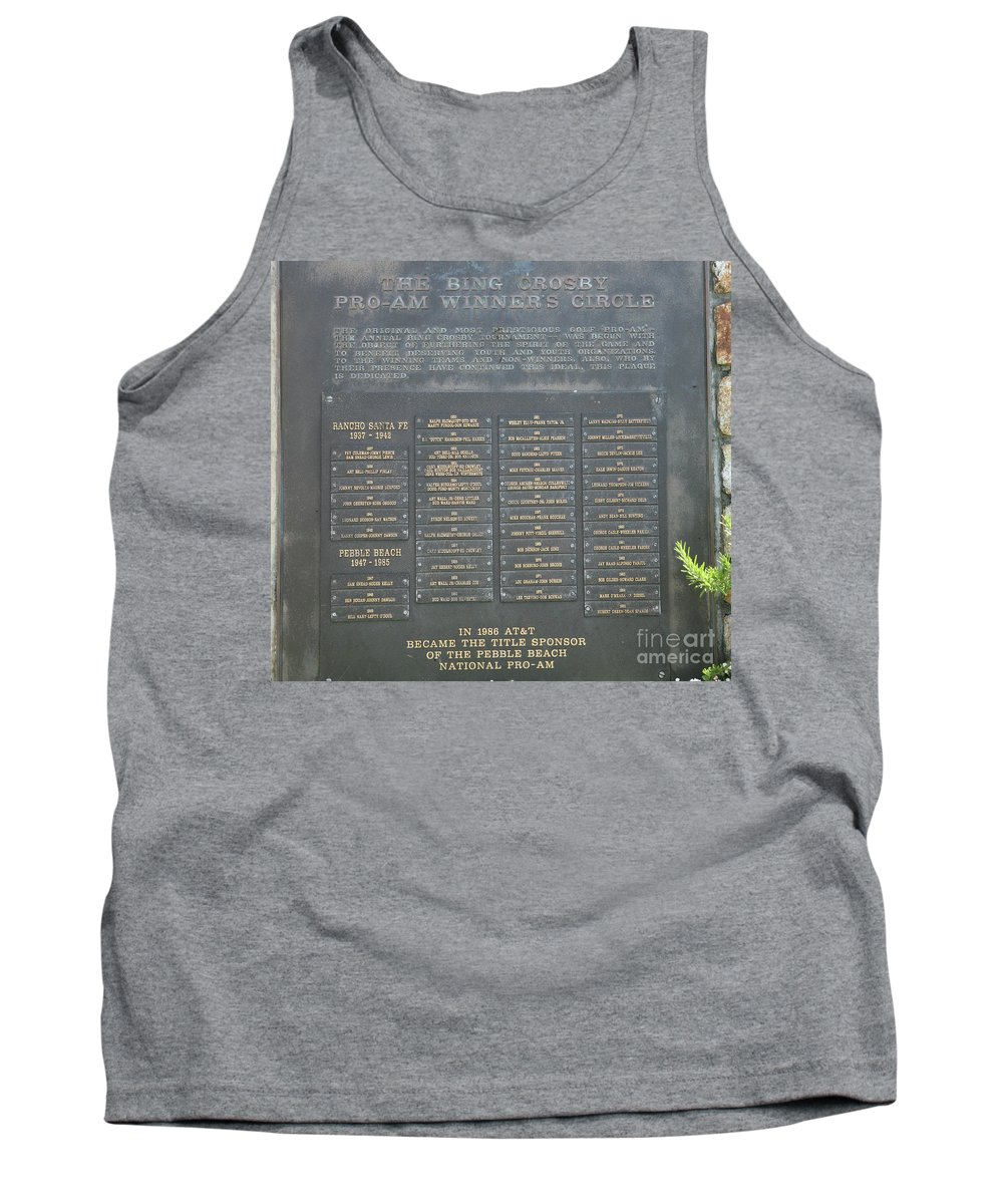Monterey Tank Top featuring the photograph Crosby Pro Am Winners Circle by Chuck Kuhn