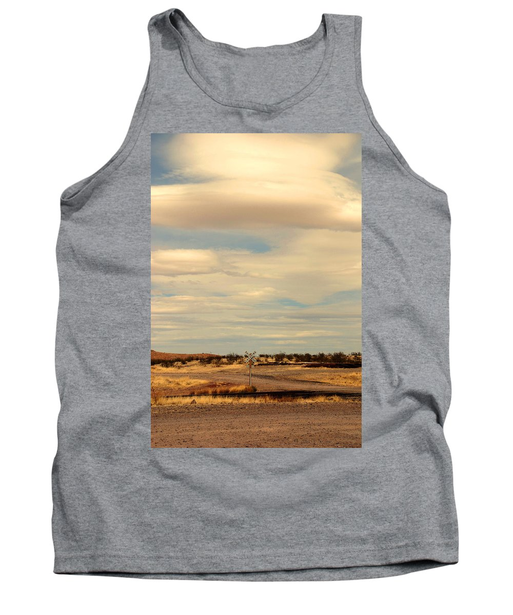 Cross Road Tank Top featuring the photograph Cross Road In New Mexico by Susanne Van Hulst