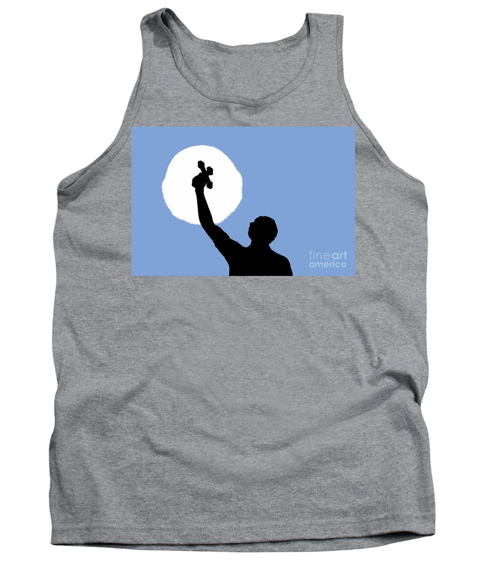 Cross Tank Top featuring the photograph Cross Sky by David Lee Thompson
