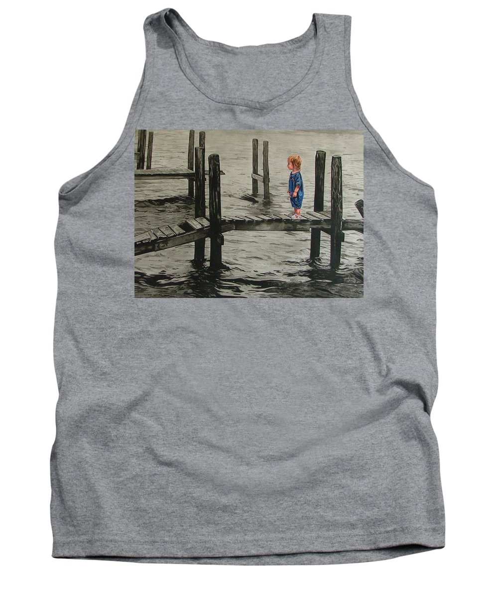 Children Tank Top featuring the painting Crossing by Valerie Patterson
